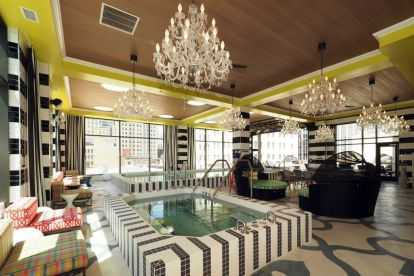 Third and Vine City Club Interior  with Pool